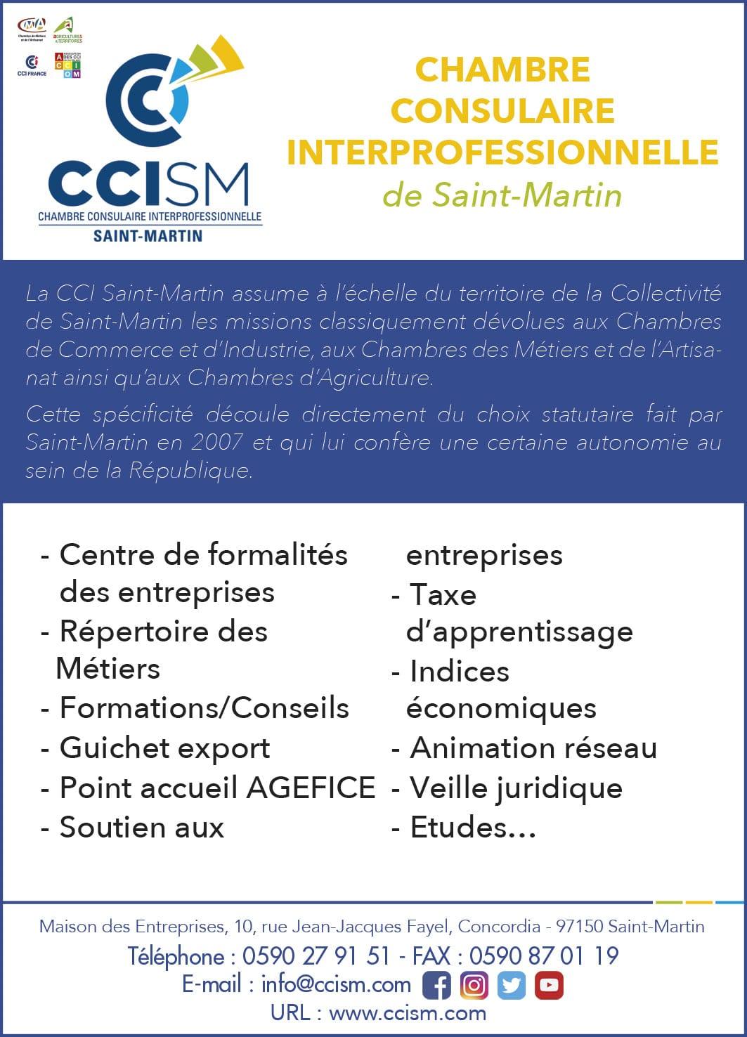 Annuaire Téléphonique St Martin - CCISM